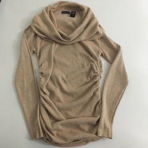 Moda International Beige Sweater Size Medium
